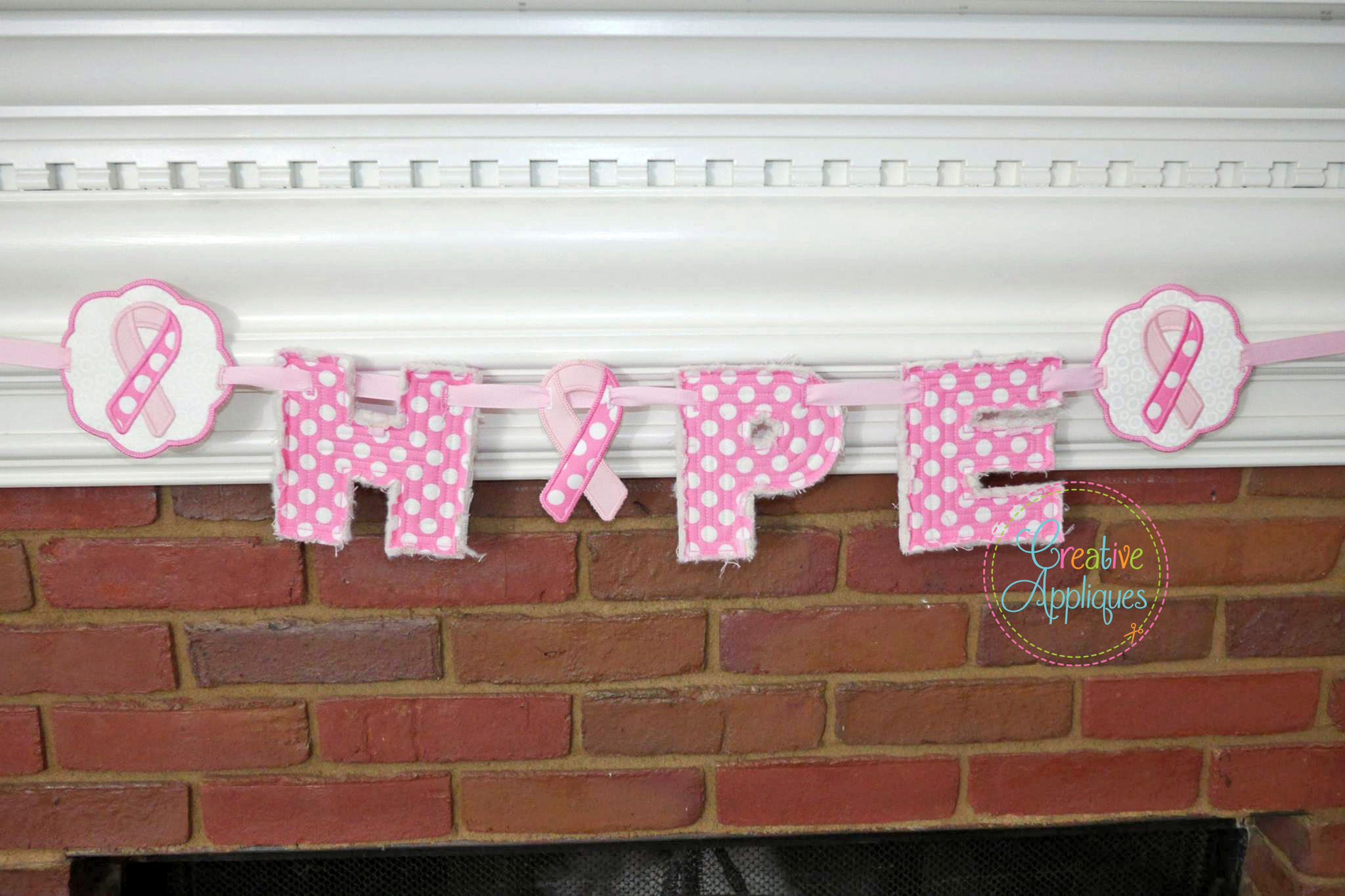 Frayed block banner alphabet in the hoop creative appliques