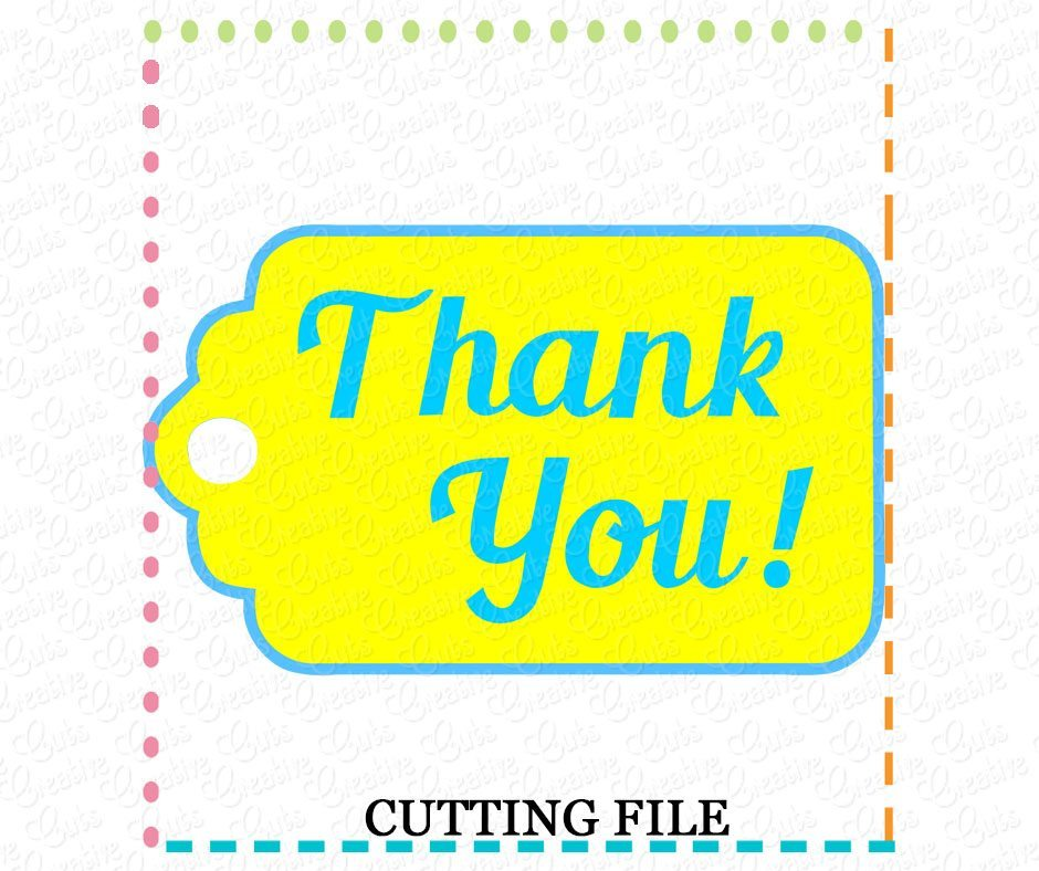 Free All downloads are in zip format and include the svg files for using with your software, such as cricut design space, sure cuts a lot, make the cut, silhouette studio designer edition, brother's canvas software, etc. Thank You Gift Tag Cutting File Svg Dxf Eps Creative Appliques SVG, PNG, EPS, DXF File