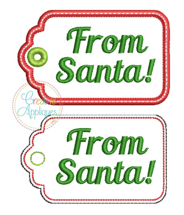from santa gift tag in the hoop creative appliques