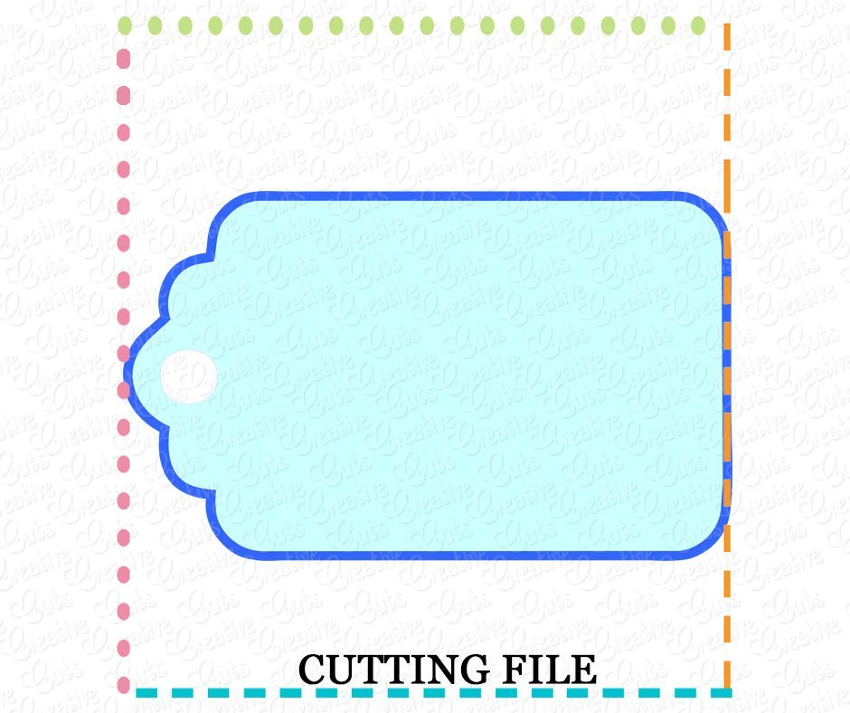 Free Blank Gift Tag Cutting File Svg Dxf Eps Creative Appliques SVG, PNG, EPS DXF File