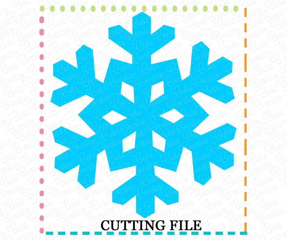 Snowflake Cutting File Svg Dxf Eps Creative Appliques