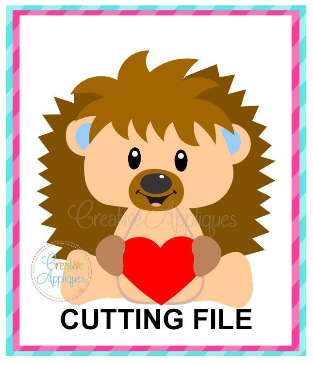 Valentine Boy Hedgehog Cutting File Svg Dxf Eps Creative Appliques