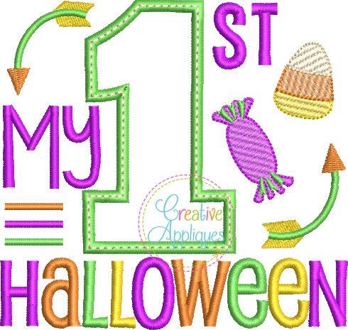 my 1st halloween applique