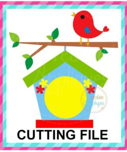 Monogram Birdhouse SVG cut file