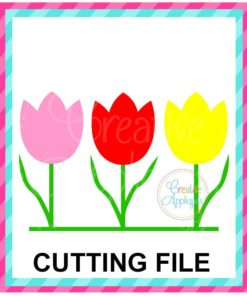 three tulip trio SVG cut file