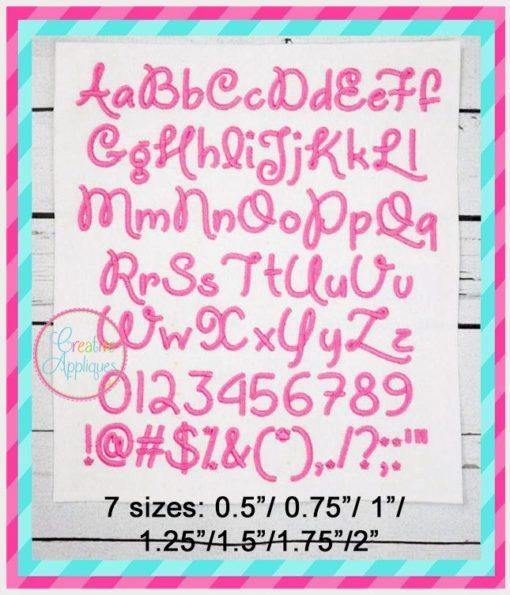 unicorns are awesome alphabet font