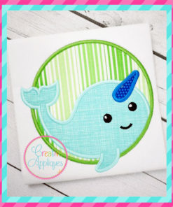 narwhal-circle-unicorn-fish-embroidery-applique-design-creative-appliques