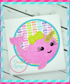 unicorn-fish-narwal-girl-circle-embroidery-applique-design