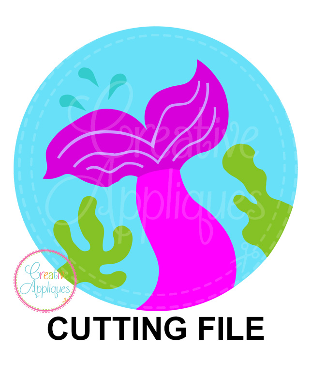 Mermaid Tail Circle Cutting File Svg Dxf Eps Creative Appliques