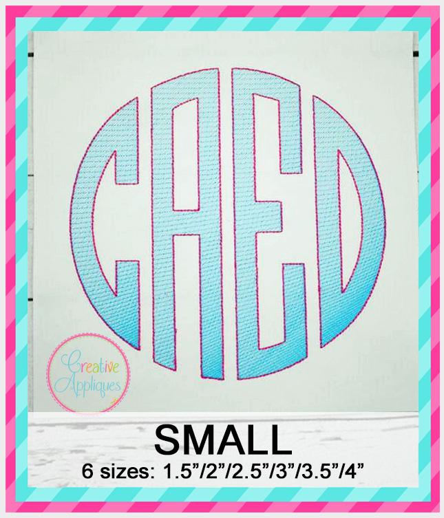 4 Letter Sketch Stitch Monogram Font – SMALL
