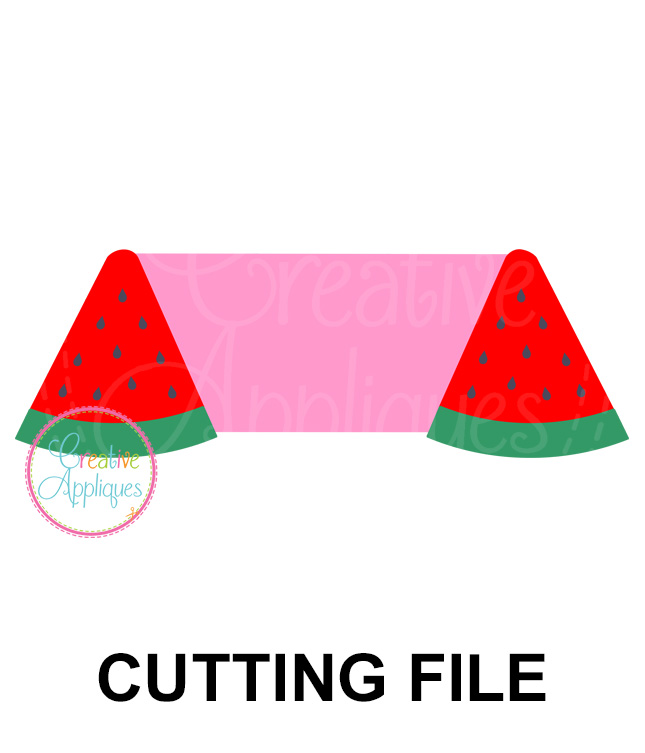 Watermelon Frame Cutting File SVG DXF EPS