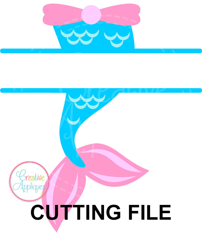 Mermaid Tail Cutting File Svg Dxf Eps Creative Appliques