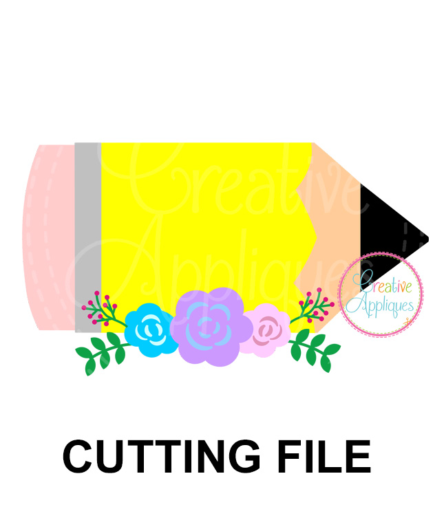 Pemcil Flowers Cutting File Svg Dxf Eps Creative Appliques