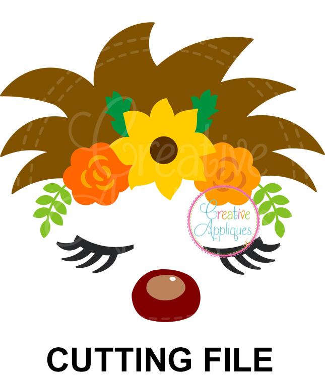 Hedgehog Floral Crown Cutting File Svg Dxf Eps Creative Appliques