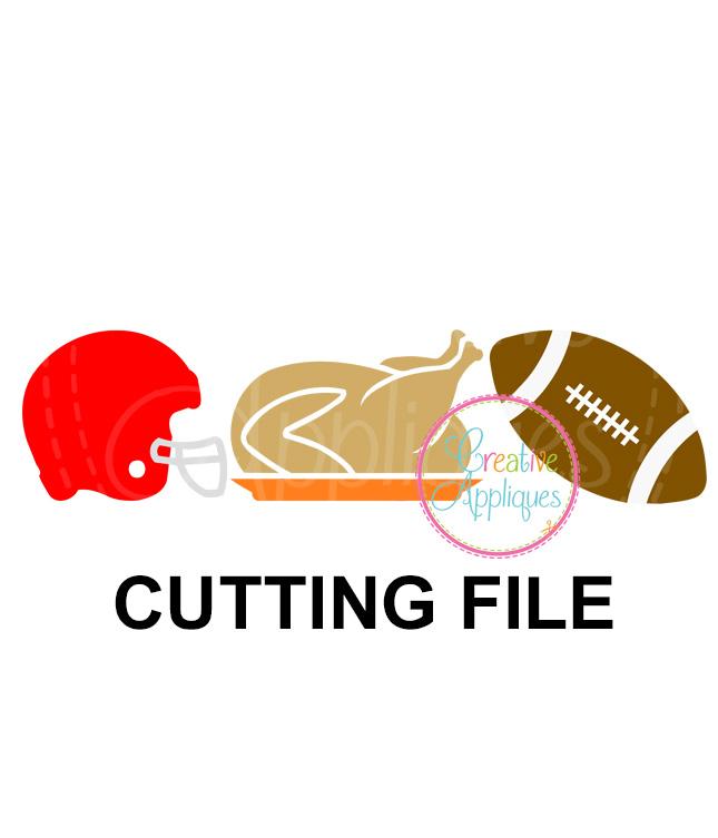 Football Turkey Cutting File Svg Dxf Eps Creative Appliques