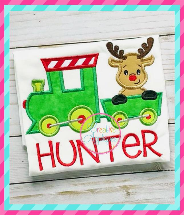 Reindeer Train Applique Creative Appliques