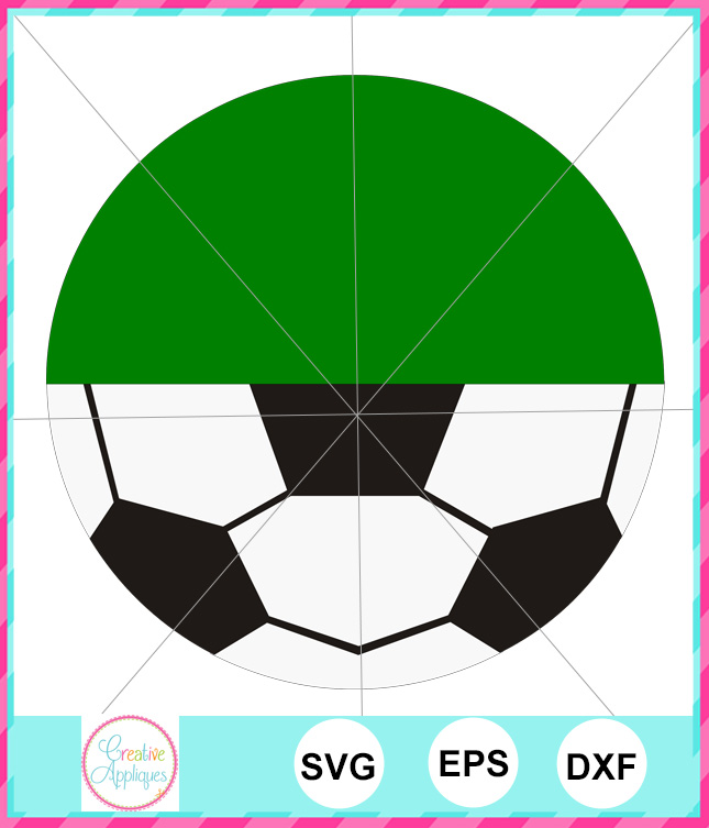 Monogram Soccer Ball Cut File Creative Appliques