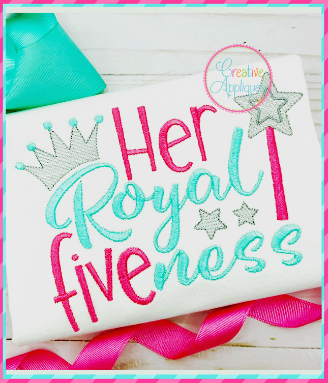 Her Royal Five Ness Embroidery Creative Appliques