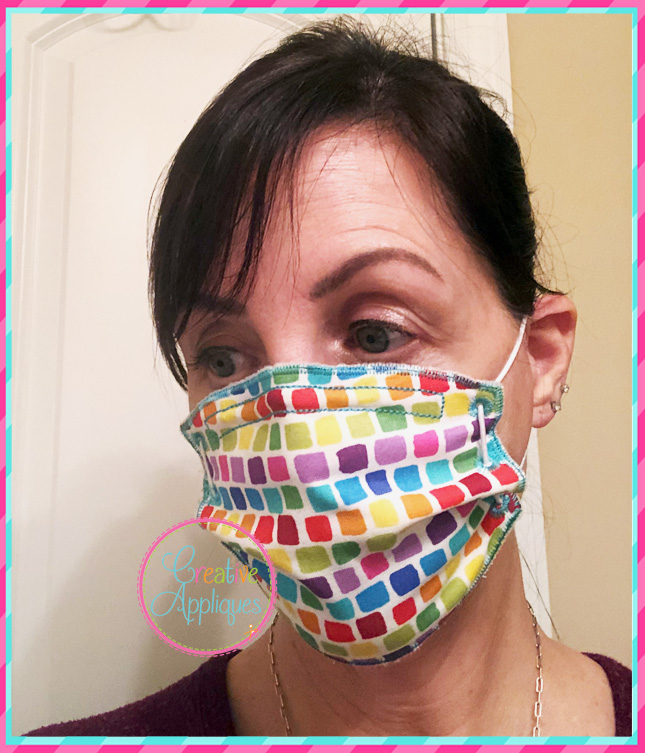In The Hoop Zigzag Stitch Face Mask Creative Appliques