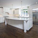 White Custom Kitchen With Center Island