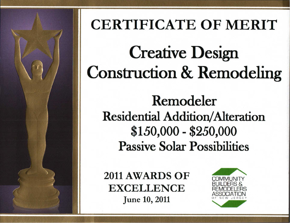 Awards Creative Design Construction