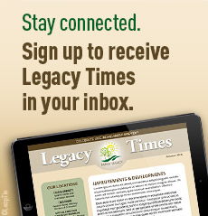 Sign up to receive Legacy Times newsletter in your inbox