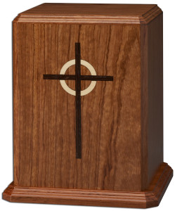 DW Bubinga with Cross cremation urns