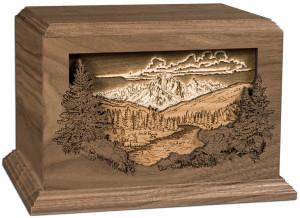 DW Dimensional Mtn. Scene cremation urns