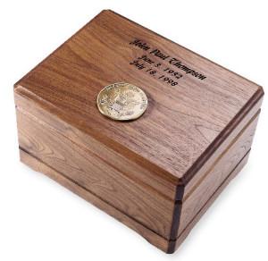 Walnut Memento cremation urns