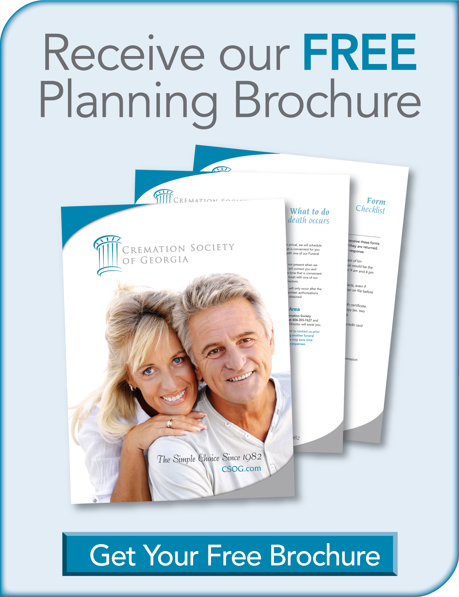 Get a FREE Planning Kit to help you with planning the cremation process