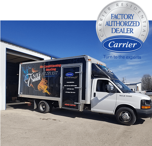 Texas Made Air Conditioning and Heating service truck