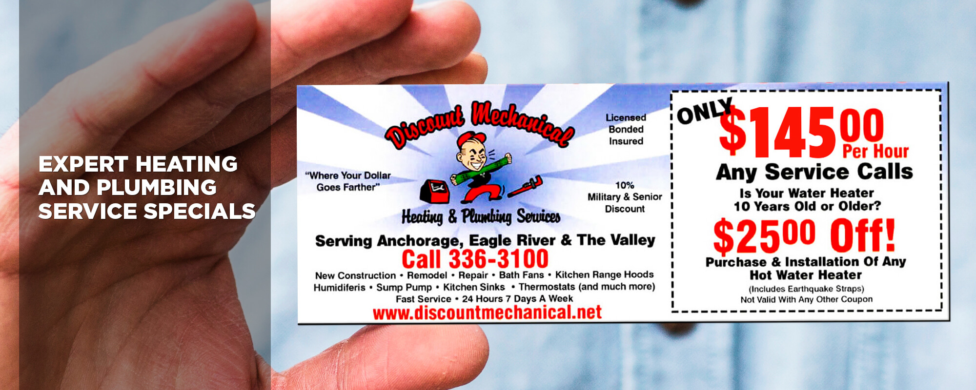 Discount Mechanical Heating & Plumbing Services discount coupon