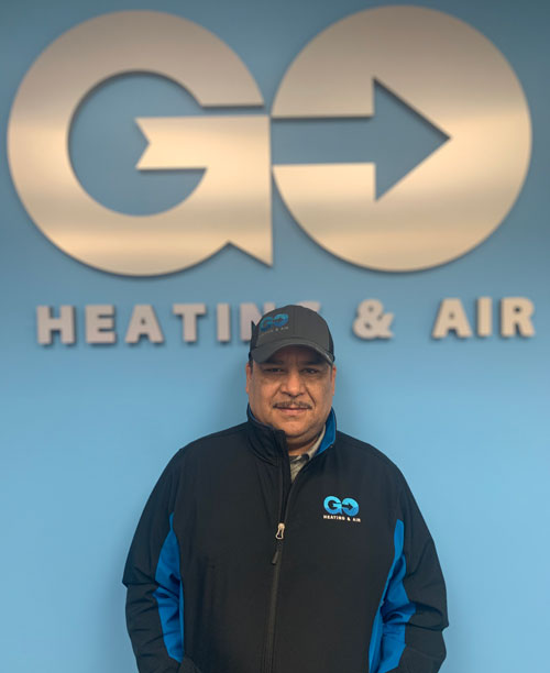 Go Heating & Air's Residential Lead Installer Jose Medina
