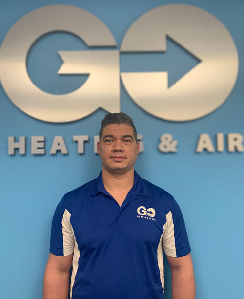 Go Heating & Air's Residential Lead Installer Eric Reyes