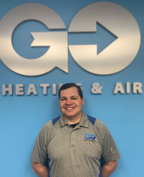 Go Heating & Air's Residential Installer Jorge Benitez
