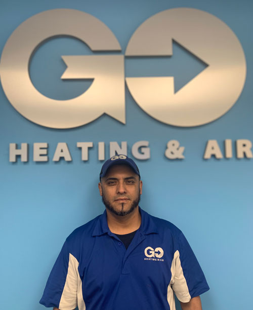 Go Heating & Air's Residential Installer Ruben Martinez
