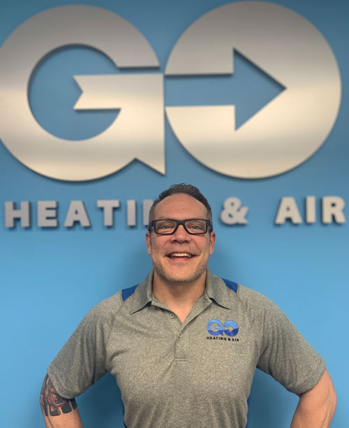 Go Heating & Air's Residential Technician John Durkin