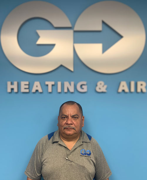 Go Heating & Air's Warehouse Manager Luis Salinas