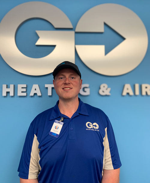 Go Heating & Air's Lead Service Technician Jacob Carkeet