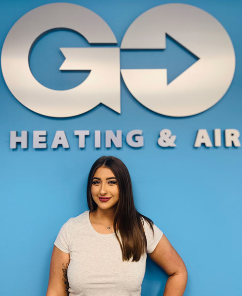 Go Heating & Air's Customer Servicee Representative Lauryn Warner