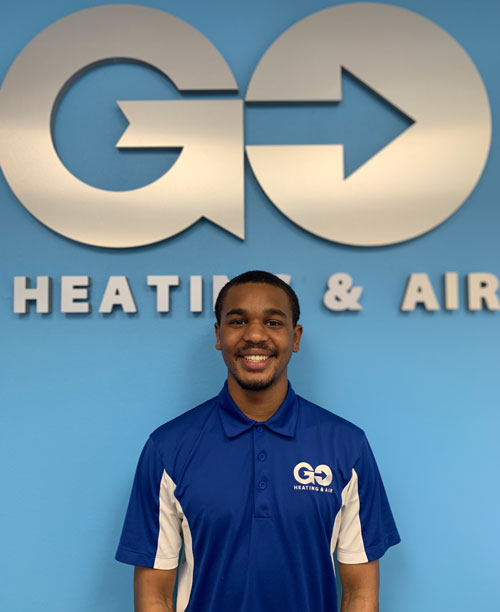 Go Heating & Air's Service Technician Montrell Garrett