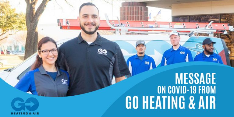 Message on Covid-19 from GO Heating & Air