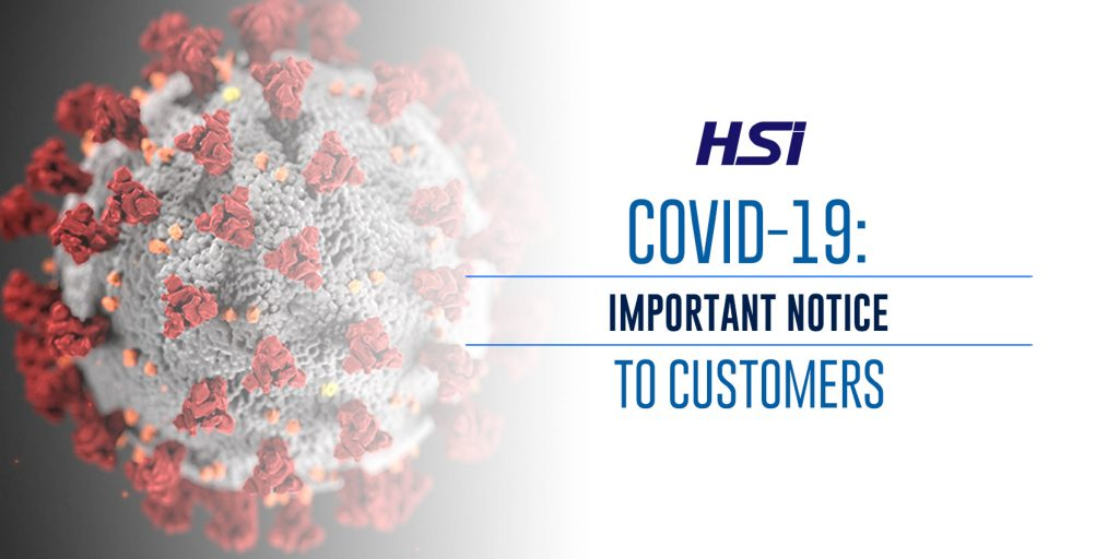 COVID-19: IMPORTANT NOTICE TO CUSTOMERS