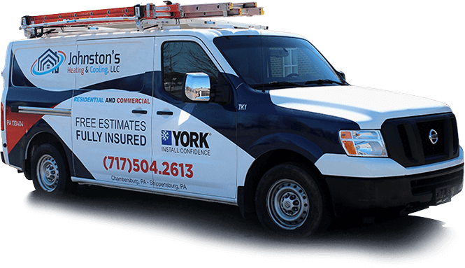 Johnstons Heating & Cooling Service Truck