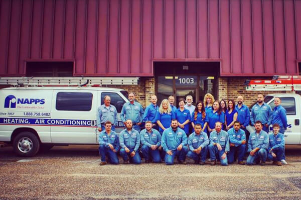 Napps Heating and Air Conditioning Professional Team