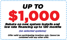 Up to $1,000 Rebates on New System Coupon