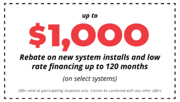 Up to $1000 Rebates on New System Install Coupon