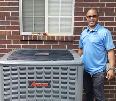 A technician successfully installed Amana outdoor unit