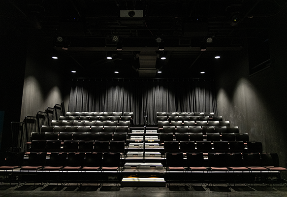 View of the seats at the PNC Arts Annex Theatre