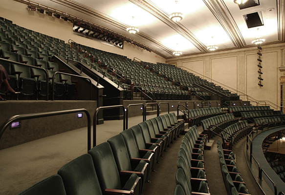 View of balcony seats at Victoria Theatre